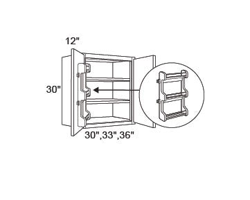 WALL | Standard | Spice Rack Right | 12