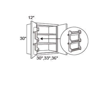 WALL | Standard | Spice Rack Both Doors | 12