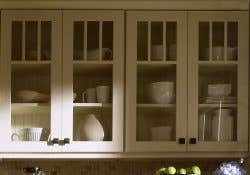 Glass doors with mullion dividers.