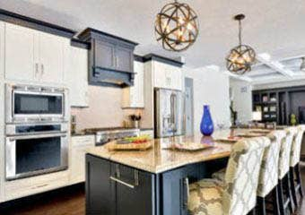 CliqStudios Two Toned Kitchen Designs