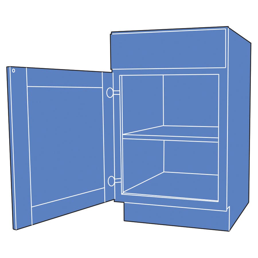 illustration of a fully-assembled quality cabinet