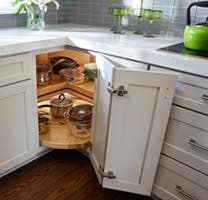 lazy susan increases kitchen cabinets cost