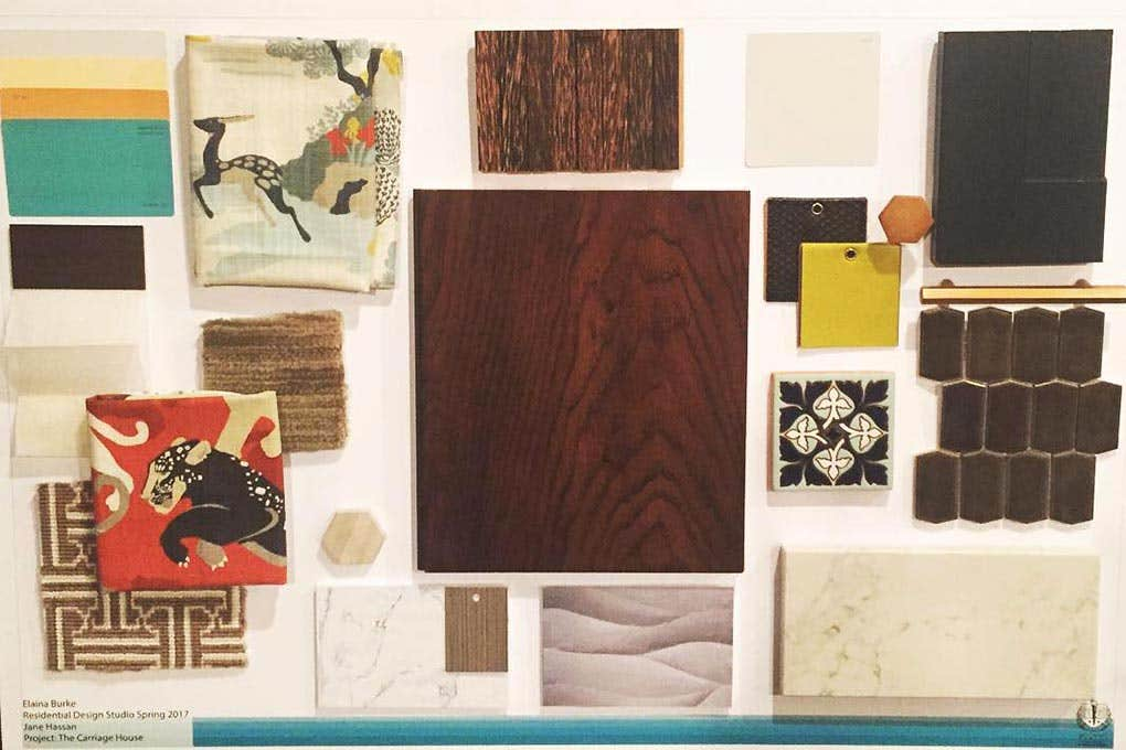 mood board or design board for whole house
