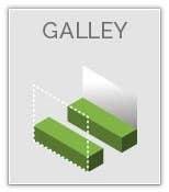 Galley Kitchen Layout Graphic