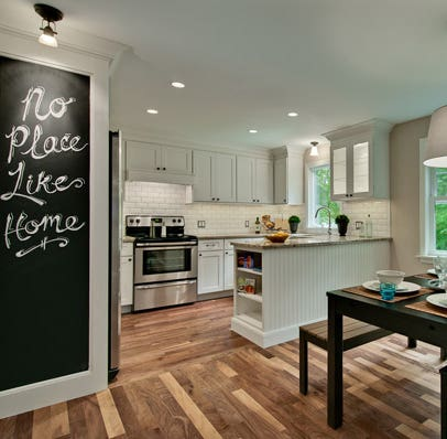 White kitchen remodel by Simone Development