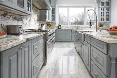 Galley view of Emanuel kitchen design