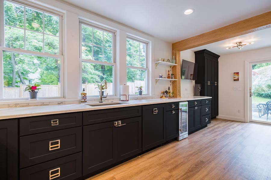 A Westchester kitchen opens up with the help of Sweeten, a free service that matches renovators with the best general contractor