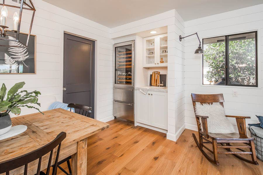 Wet Bar with Dayton Kitchen Cabinets in White