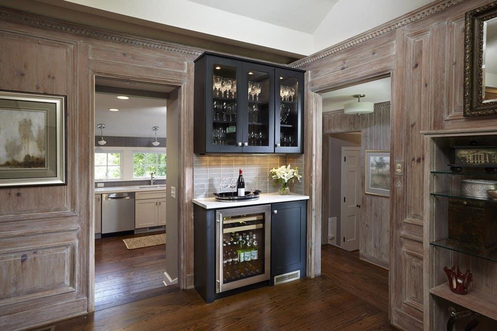 CliqStudios Dayton painted carbon wine storage cabinets