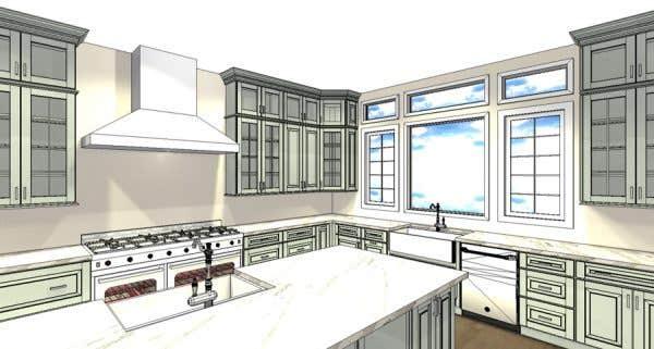 CliqStudios kitchen design rendering