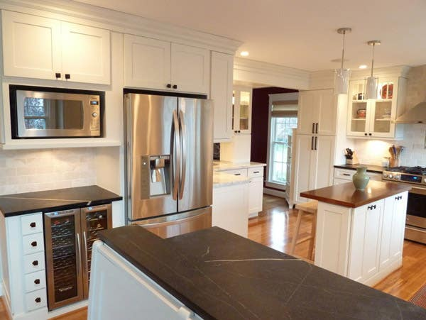 Built-In Microwave and Refrigerator Area