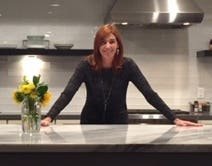 homeowner annette slatic in kitchen of her contemporary craftsman home in san diego california