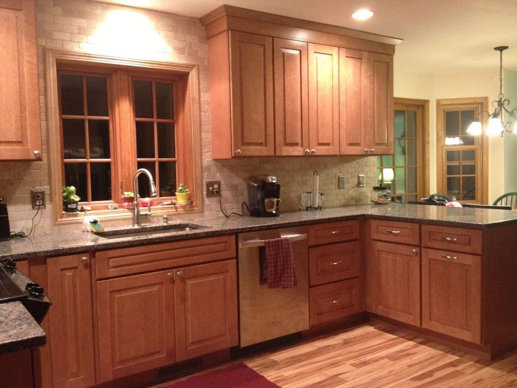 Prospect Connecticut kitchen renovation features CliqStudios Cambridge Maple Caramel cabinets