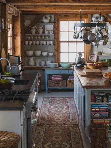 Clean Kitchen Island with Storage