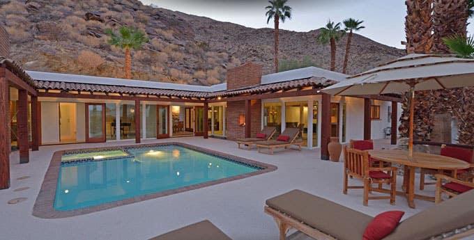Outdoor Pool Desert Home