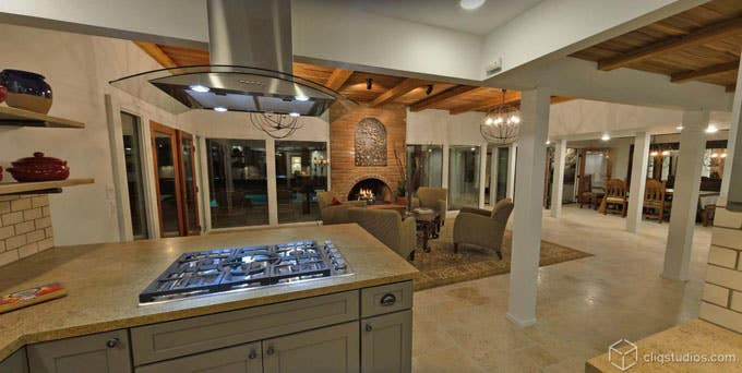 CliqStudios.com Kitchen and Living Room