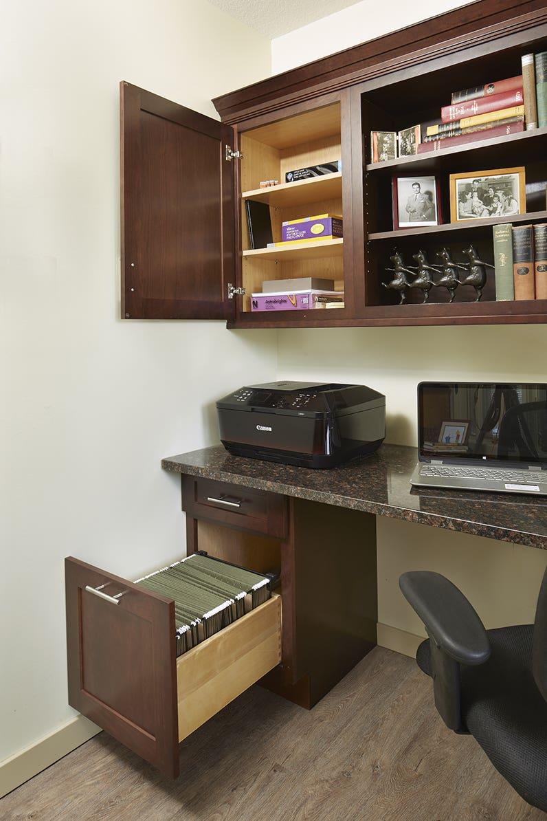 Dayton cherry russet modern cabinets