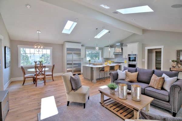 Modern open concept living room design