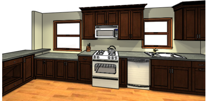 sable birch cabinets in beverage center, refrigerator and pantry cabinets