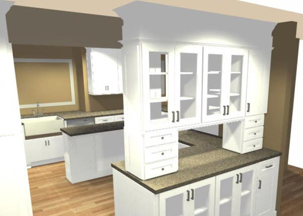 Kitchen Cabinets Hutch from Dining Room