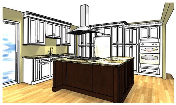L-Shape Kitchen Island Cabinetry