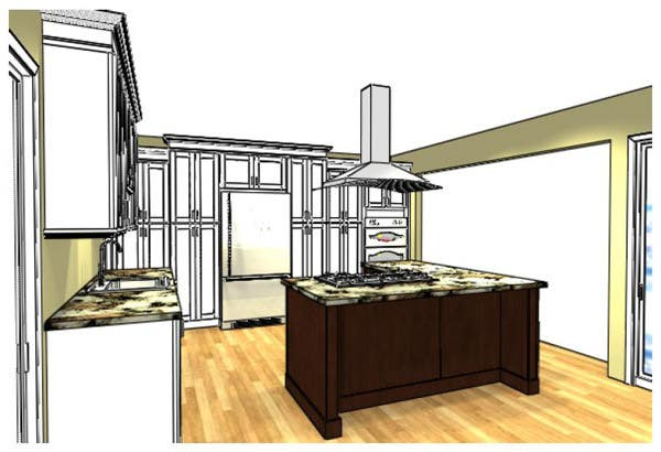 Kitchen Island and Pantry Cabinets
