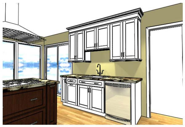 Kitchen Sink and Washer Area