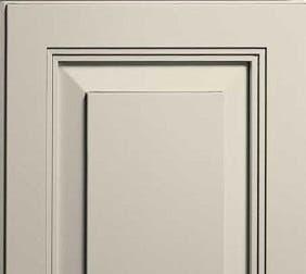 Hand-wiped bisque glaze highlights fine detailing in the door frame.
