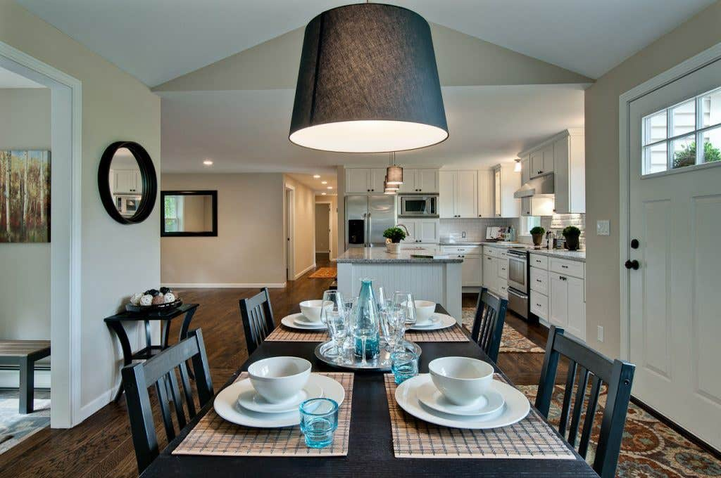 designing your home with an open floor plan is very popular today