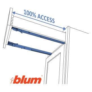 Blum® Full-Access, Soft-Close Steel Undermount Guides